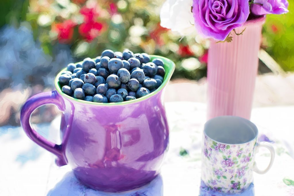 detox with blueberries